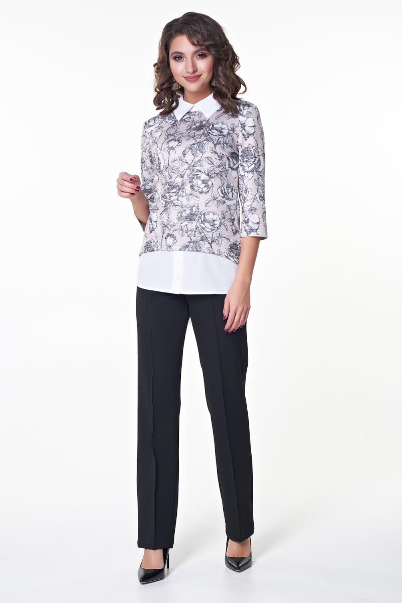 Блузка Баффи (цветы) №1 бренда Valentina