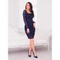 Темно-синее платье футляр из гипюра АП305-5 бренда Anna Style